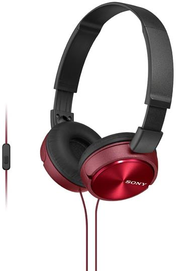SONY MDR-ZX310APR, handsfree červená