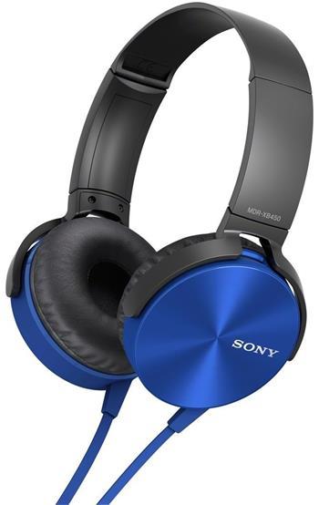 SONY MDR-XB450AP, modrá