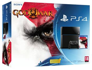 Sony PS4 Playstation 4 500GB Black + God of War III Remastered