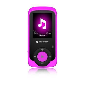 GoGEN MAXI přehrávač MP3/MP4, 4GB růžový