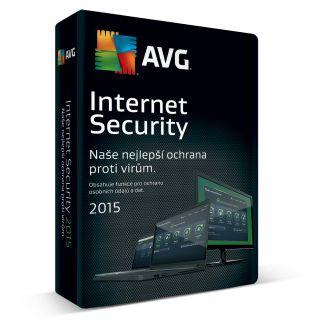 AVG Internet Security 2015 CZ 1 licence 12 měsíců - (včetně média)