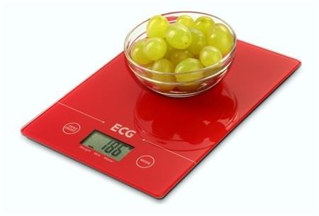 ECG KV 117 SLIM red - kuchyňská váha