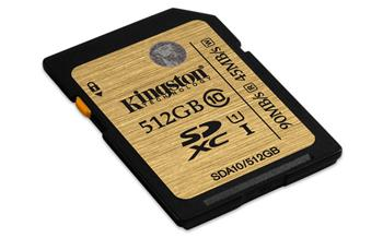Kingston SDXC UHS-I Ultimate Memory Card 512GB Class 10Kingston 512GB SDXC Ultimate UHS-I class 10; SDA10/512GB
