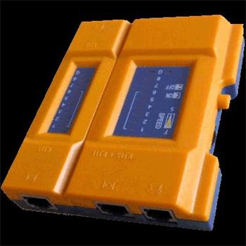 DATACOM Cable Tester LED (RJ45.12.11) ORANGE s reg.rychlosti testu ; 4585