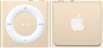 iPod shuffle 2GB - Gold; MKM92HC/A