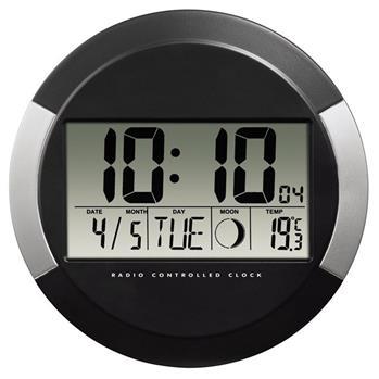 Hama digitální nástěnné hodiny PP-245,černé; 104936