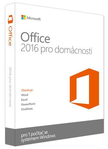 Microsoft Office 2016 pro domácnosti a studenty (EN)