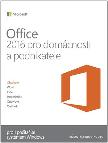 Microsoft Office 2016 pro domácnosti a podnikatele (SK)