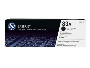 HP CF283AD - toner černý NO. 83 pro HP LaserJet PRO MFP M125, 2x1.500 str.