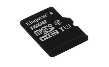 Kingston micro 16GB Class 10 G2 SecureDigital HC (microSDHC) (bez ad.); SDC10G2/16GBSP