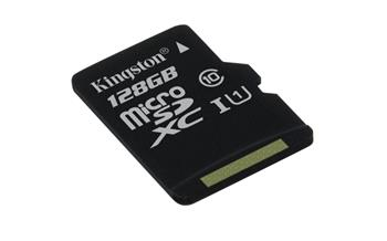 Kingston micro SDXC 128GB class 10Kingston 128GB Micro SDXC G2 - class 10 (bez adaptéru); SDC10G2/128GBSP
