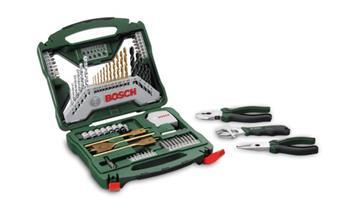 Sada vrtáků a bitů Bosch 70 dílná X-Line Ti + ruční nářadí; 3165140727365