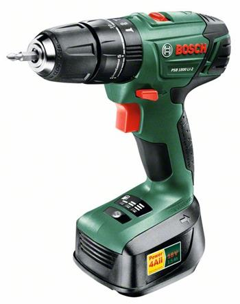 Bosch PSB 1800 LI-2, 2 aku