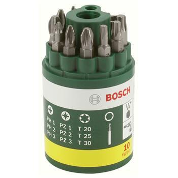 Sada Bosch 10 dílná šroubovacích bitů; 2607019452