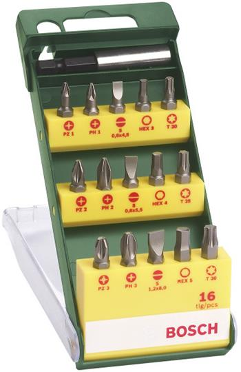 Sada Bosch 16 dílná šroubovacích bitů; 2607019453