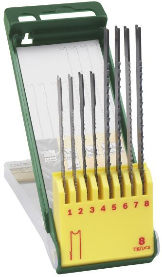 Sada Bosch 8 dílná kazeta pilových plátků na dřevo/kov/plast (U-stopka); 2607019459