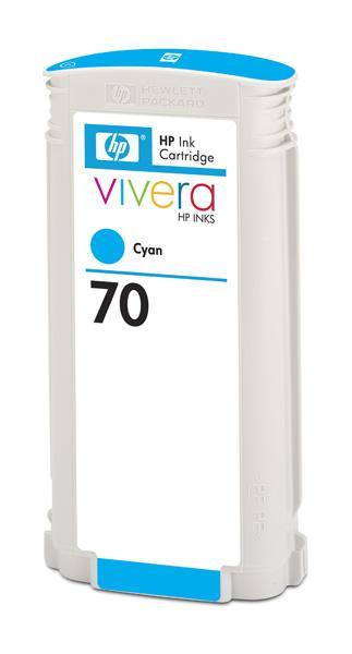 HP No. 70 Cyan Ink Cartridge pro DJ Z2100, 130ml, C9452A; C9452A