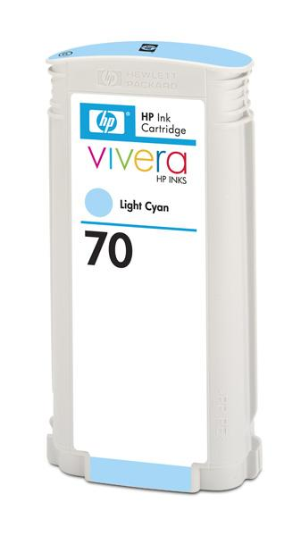 HP No. 70 Light Cyan Ink Cartridge pro DJ Z2100, 130ml, C9390A; C9390A