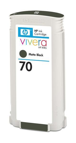 HP No. 70 Matte Black Ink Cartridge pro DJ Z2100, 130ml, C9448A; C9448A