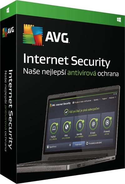 AVG Internet Security 2016, 1 lic. (12 měs.) SN DVD; ISCEN12DCZS001