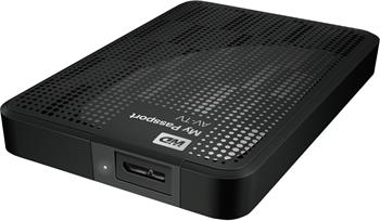 "WD My Passport AV-TV 1TB Ext. 2.5"" USB3.0, Black; WDBHDK0010BBK-EESN"