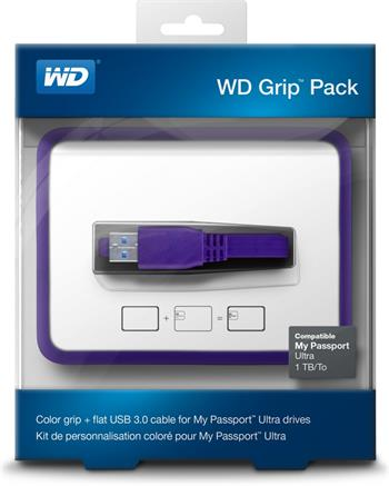 WD GRIP PICASSO 1TB PLUM - Externí HDD; WDBZBY0000NPL-EASN