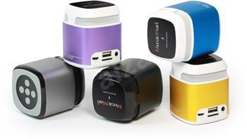 Přenosný Bluetooth a NFC reproduktor Makro Technaxx Mini MusicMan, baterie 600 mAh, modrý (NFC-X6)