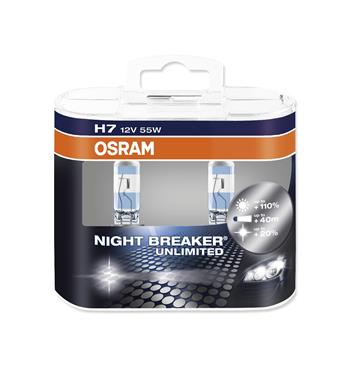 Autožárovka OSRAM H7 12V 55W 64210 NBU NIGHT BREAKER blistr - 2ks