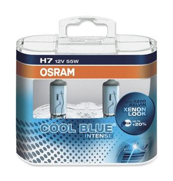 Autožárovka OSRAM H7 12V 55W 64210 HCB COOL BLUE blistr - 2ks; 3132260714