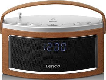 Lenco SR-600 BT hnědý - bluetooth rádiopřijímač s digitálním tunerem; lsr600btbr