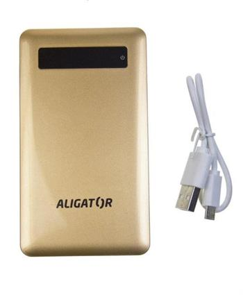 POWER BANK ALIGATOR slim 4000mAh gold