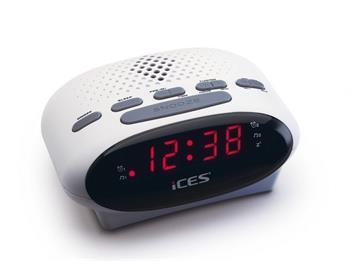 ICES ICR-210 - bílý - radio budík Lenco