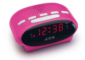 ICES ICR-210 - růžový - radio budík Lenco
