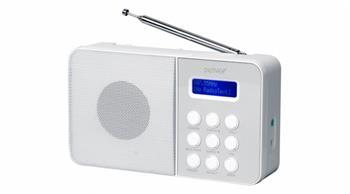 Denver DAB-33 WHITE - rádiopřijímač s digitálním tunerem DAB+