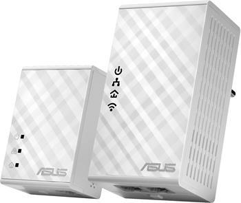 ASUS PL-N12 KIT powerline extender, Wi-Fi N300, AV500, 2 porty; 90IG01V0-BO2100(EU)