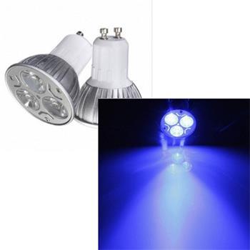 LED žárovka 3W GU10 240V modrá; BDL-GU10-B-3W-240V