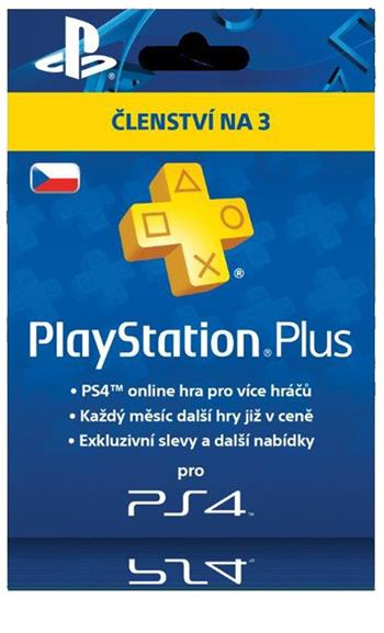 PlayStation Plus Card 90 Day Hang - pouze pro CZ PS Store