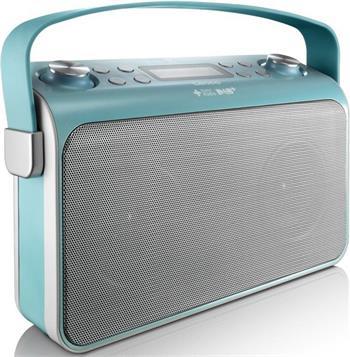 Lenco Lucille - modrý - rádiopřijímač s digitálním tunerem DAB