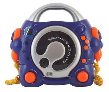 Bigben CD47 modrý - přenosné rádio s CD s karaoke; 8bcd47bl