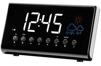 Denver CR-718 - rádiobudík s digitálním tunerem FM a meteostanicí; dcr718