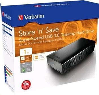 "Verbatim Store'n'save External HDD 3,5"", 1TB, USB 3.0; 47670"