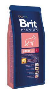 Brit Premium Dog Junior L 15kg; 46873