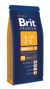 Brit Premium Dog Senior M 15kg; 46872