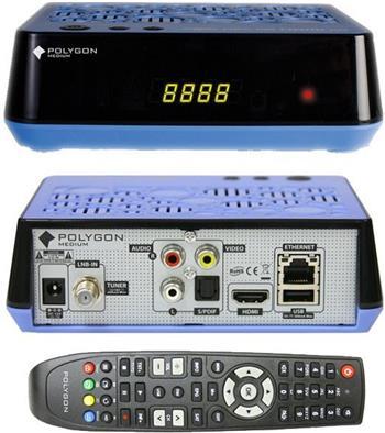 Polygon DVB-S2 přijímač MEDIUM s prohlížečem,CI slot - satelitní příjmač; DBSPOL0002