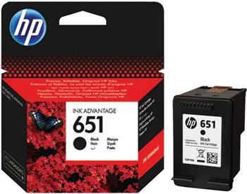 HP 651 černý inkoust originální, až 600 stran