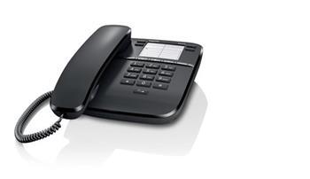 SIEMENS Gigaset DA310 - standardní telefon bez displeje, barva černá; GIGASET-DA310-BLACK