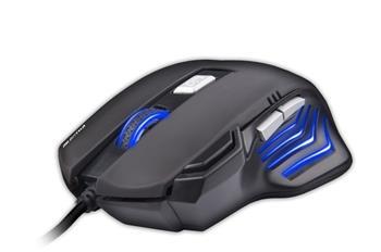 C-TECH Akantha Ultimate (GM-11), herní, 7 barev podsvícení, laser 3200DPI, programovatelná, USB myš