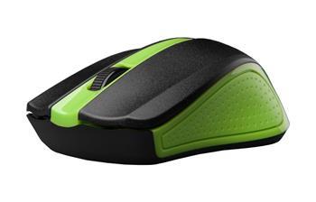 C-TECH WLM-01, zelená, bezdrátová, USB nano receiver, myš