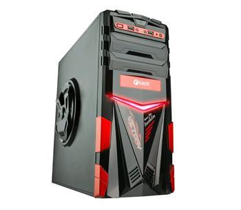C-TECH ARES (GC-02), černo-červená, PC herní skříň, bez zdroje