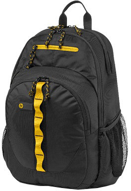 HP 15.6 Sport Backpack (Black/Yellow)